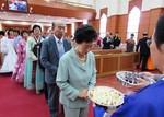 Prayer service in North Korea