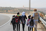 School run in the South Hebron Hills