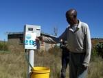 Pre-paid water meter in Tetsane, Maseru, Lesotho.
