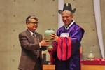 WCC general secretary at doctorate in Seoul, April 2015