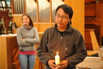 Prayer service with climate activist Yeb Saño at the Ecumenical Centre, Geneva.