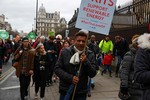 Climate march in London