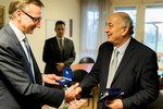 Greek Minister Ioannis Amanatidis on visit to the Ecumenical Centre