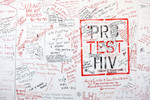 "The ""Pro Test"" wall at AIDS 2016, Durban, South Africa"