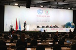 Delivering the WCC message at COP22 plenary