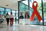 """""""Leading by example"""" campaign exhibition at UNAIDS building"""