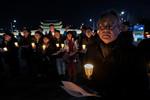 Candle-light vigil for peace in Korea
