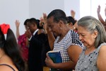 Sunday worship service at 4th Presbyterian Church of Barranquilla