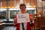 The ecumenical photo petition for climate justice was organized by an international coalition of Christian organizations in order to bring the messages of all those who care for creation to the United