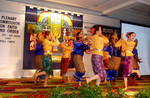 A Malaysian traditional dance group performing at the plenary commission.
