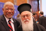 Rev. Dr Tyrone Pitts with H.B. Archbishop Anastasios at the WCC Central Committee 2011