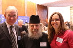 Rev. Dr Hielke Wolters, H.E. Archbishop Aristarchos and Ms. Caroline Hennessy