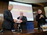Rev. Dr Olav Fykse Tveit hands over documents of the Brasil: Nunca Mais project to Brazilian Attorney General Roberto Gurgel