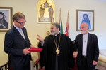 WCC delegation are welcomed by H.E. Metropolitan Damaskinos Mansour