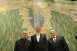 Rev. Dr Olav Fykse Tveit, Dr Geoff Tunnicliffe and Cardinal Jean-Louis Tauran