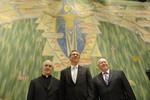 Rev. Dr Olav Fykse Tveit, Dr Geoff Tunnicliffe and Cardinal Jean-Louis Tauran