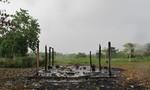 The burned kiosk at Finca La Alemania
